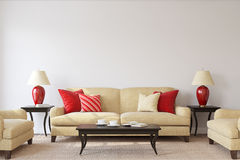Free Living-room Interior. 3d Render. Royalty Free Stock Photography - 98086267