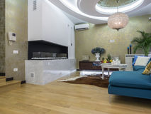 Living room interior. Apartment living room design and decoration Royalty Free Stock Image