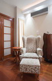 Living room interior - armchair detail Royalty Free Stock Image