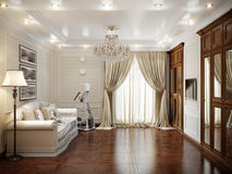 Living room interior in classic style Royalty Free Stock Images