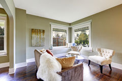 Living room interior with classic white chairs Royalty Free Stock Images
