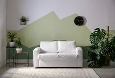 Living room interior with sofa. Living room interior with comfortable sofa Stock Photo