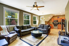 Living room interior with creative coffee table royalty free stock photos