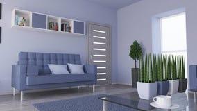 Living Room Interior. 3D render of a Living Room Interior Stock Photo