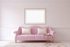 Living-room interior. 3d render. Stock Image