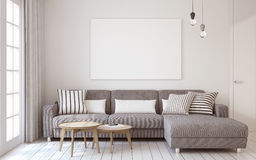 Living-room interior. 3d render. Royalty Free Stock Photography