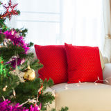 Living room interior decorated christmas Royalty Free Stock Images