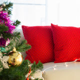Living room interior decorated christmas Stock Photos