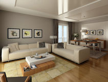 Living room interior design Stock Image
