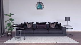 Living room, interior design 3D Render Stock Photo