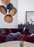 Living room, interior design stock images