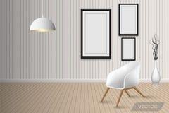 Living room interior design and decorative vector illustration
