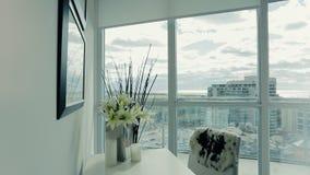 Living room interior design. Dolly shot stock video