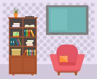 Living room interior with furniture Stock Photos