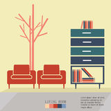 Living Room. Interior  illustration eps 10 Stock Images