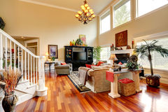 Living room interior in luxury house Stock Image