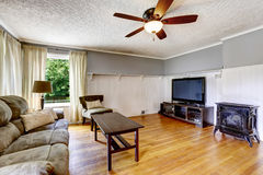 Living room interior in old house Stock Image
