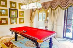 Living room interior with pool table. Luxury living room interior ,chongqing ,china royalty free stock photo