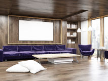 Living room interior with purple sofa Stock Image