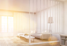 Living room interior sideview toning Royalty Free Stock Images