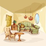 Living Room Interior Sketch Royalty Free Stock Photo