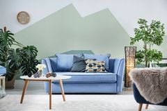 Living room interior with sofa. Living room interior with comfortable sofa Royalty Free Stock Photos