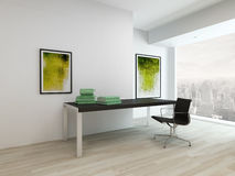 Living room interior with table and chair Stock Photography