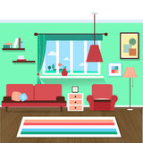 Living room interior. Vector for your ideas Royalty Free Stock Images