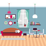 Living room interior. Vector for your ideas Stock Photos