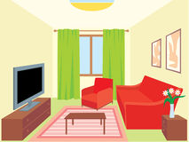 Living room. Interiors Royalty Free Stock Image