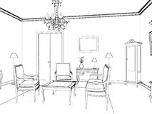 Living Room Isolated On White Vector Royalty Free Stock Photo