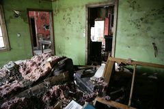 Living Room after Katrina Royalty Free Stock Images