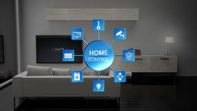 Living room light energy saving efficiency control, Smart home control, internet of things.
