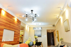 Living room light system Royalty Free Stock Image