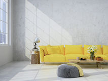 living room loft interior. 3d rendering Stock Images