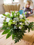 Living room lounge flowers Royalty Free Stock Photography