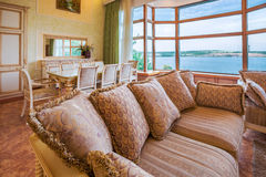 Living Room in Luxurious New Home Stock Image