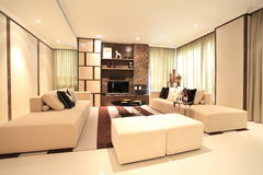 Living room in Luxury Condo in Kuala Lumpur Royalty Free Stock Photo