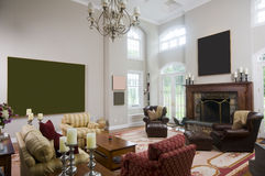 Living room in luxury estate home Stock Images