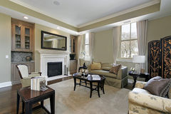 Living room in luxury home Royalty Free Stock Photo