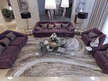 Living room luxury style Royalty Free Stock Images