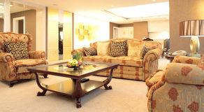 Living room of luxury suite Stock Images