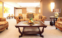 Living room of luxury suite Stock Image