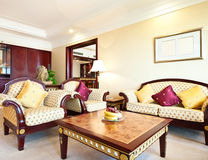 Living room of luxury suite in hotel Royalty Free Stock Image