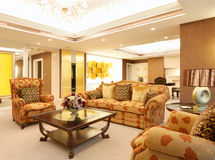 Living room of luxury suite in hotel Royalty Free Stock Photo