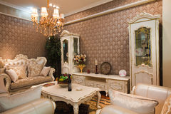 The living room. Is the main place of family life Royalty Free Stock Photography