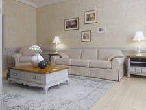 Living room mediterranean style Stock Photo