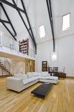 Living room with mezzanine Stock Photo