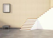 Living room and Minimal Contemporary Art Stock Photos