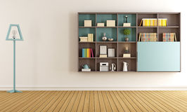 Living room with  modern bookcase Royalty Free Stock Photo